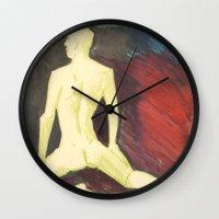 robert farkas Wall Clocks featuring Robert by Azure Cricket