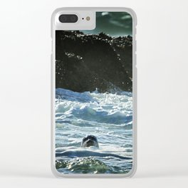 I Spy A Seal Clear iPhone Case