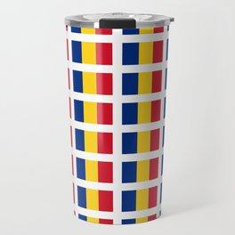 Flag of romania-romania,romanian,balkan,bucharest,danube,romani,romana,bucuresti Travel Mug