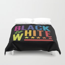 Colorful Black and White Duvet Cover