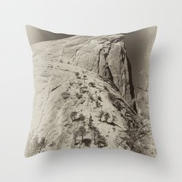Yosemite Half Domes Backside Re-imagined Throw Pillow