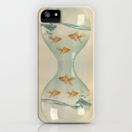 Hour Glass Goldfish iPhone Case