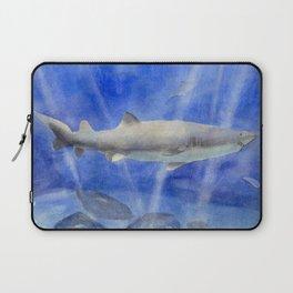 Shark Watercolor Painting Laptop Sleeve