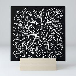 Chalk Florals Mini Art Print