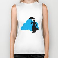 mary poppins Biker Tanks featuring mary poppins by notbook