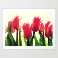 tulips Art Prints featuring Tulips by 2sweet4words Designs
