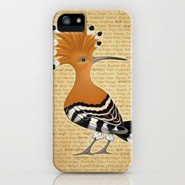 Punky Upupa iPhone Case