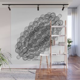 GEOMETRIC NATURE: COULOMB CRYSTAL w/b Wall Mural