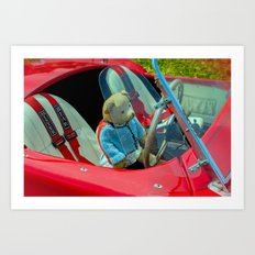 BEARY NICE CAR Art Print