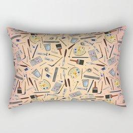 Painter's Supplies - Rose Gold Rectangular Pillow