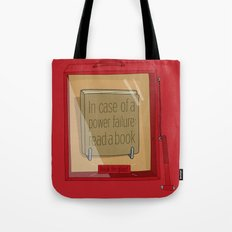 In case of a power failure: read a book Tote Bag