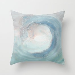 ocean spray Throw Pillow