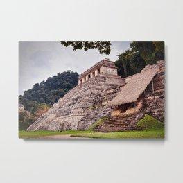 Palenque Mayan Pyramids, Mexico Metal Print