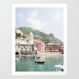 Vernazza, Cinque Terre in Italy | Italian pastel houses | Italy Fine Art Travel Print | Amalfi Coast Art Print