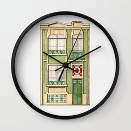 vintage town house Wall Clock