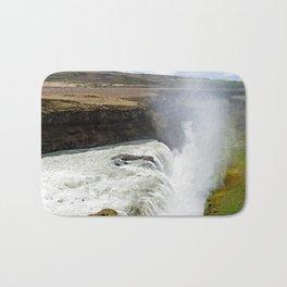 Gullfoss waterfall (Iceland) Bath Mat