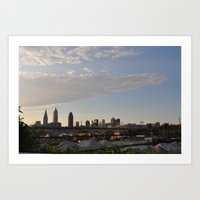 cleveland Art Prints featuring Cleveland  by BrieCLE