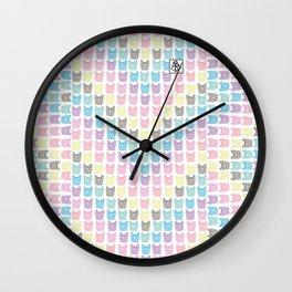 Frenchie chevron Wall Clock