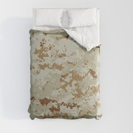 CAMOUFLAGE. Desert MARPAT camouflage pattern swatch. Comforters