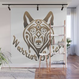 Warrior Society (Wolf) Wall Mural