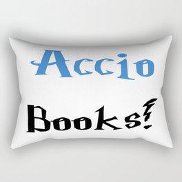 Accio books! (Blue) Rectangular Pillow