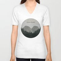 twin peaks V-neck T-shirts featuring Twin Peaks by avoid peril