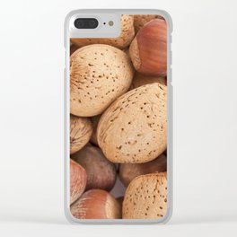 Hazelnuts and almonds Clear iPhone Case