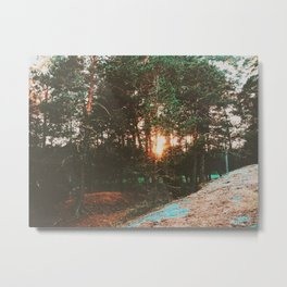 Sunset In the Swedish archipelago Metal Print