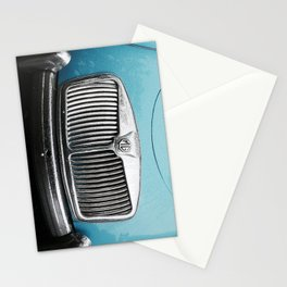 Blue MG Car Stationery Cards