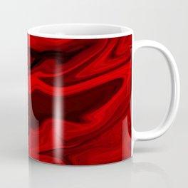 Blood Red Marble Coffee Mug