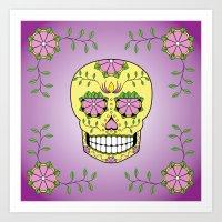 Suger Skull Art Print