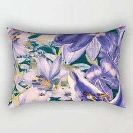 flowers blue  art #flowers #flora Rectangular Pillow