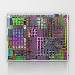 Pastel Playtime - Abstract, geometric, textured, pastel themed artwork Laptop & iPad Skin