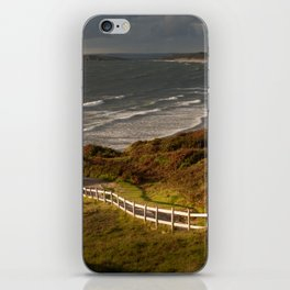 Rhossili bay south Wales iPhone Skin