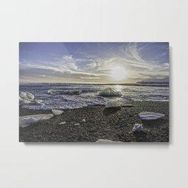 Jokulsarlon Lagoon Beach 06 Metal Print