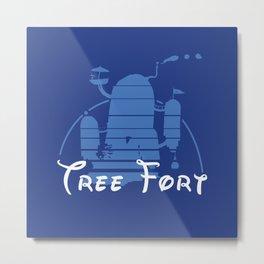 Tree Fort Metal Print