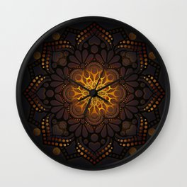 """Warm light Moroccan lantern Mandala"" Wall Clock"