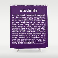 college Shower Curtains featuring Lincoln College 2015 by FountainheadLtd