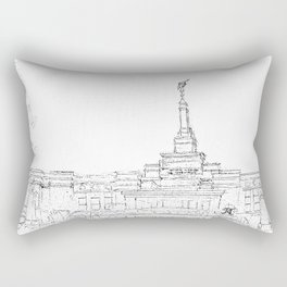 Reno Nevada LDS Temple Sketch Rectangular Pillow
