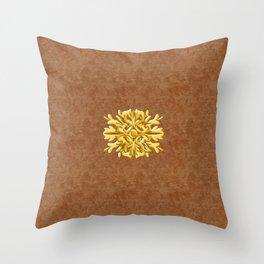 """""""Marron Doré"""" Throw Pillow"""