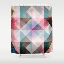 Watercolour facets Shower Curtain
