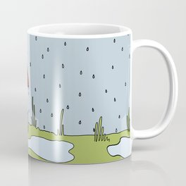 Eglantine la poule (the hen) under the rain. Coffee Mug