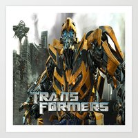 transformers Art Prints featuring Transformers by giftstore2u