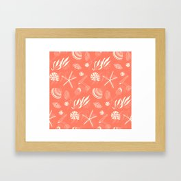 Sea shells patten Framed Art Print