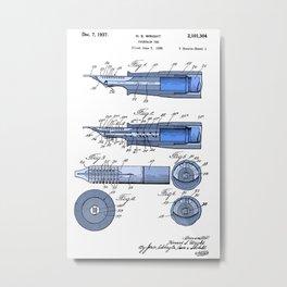 Fountain pen patent Metal Print