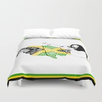 marley Duvet Covers featuring Jamaica -  Freedom Time by Art & Be
