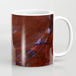 Scratched Red Coffee Mug