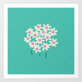 Garden Daisy Art Print
