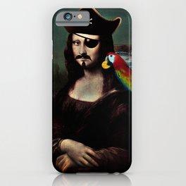 Mona Lisa Pirate Captain iPhone Case