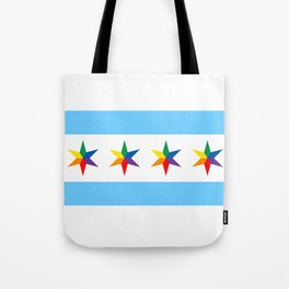 Chicago Pride Flag Tote Bag